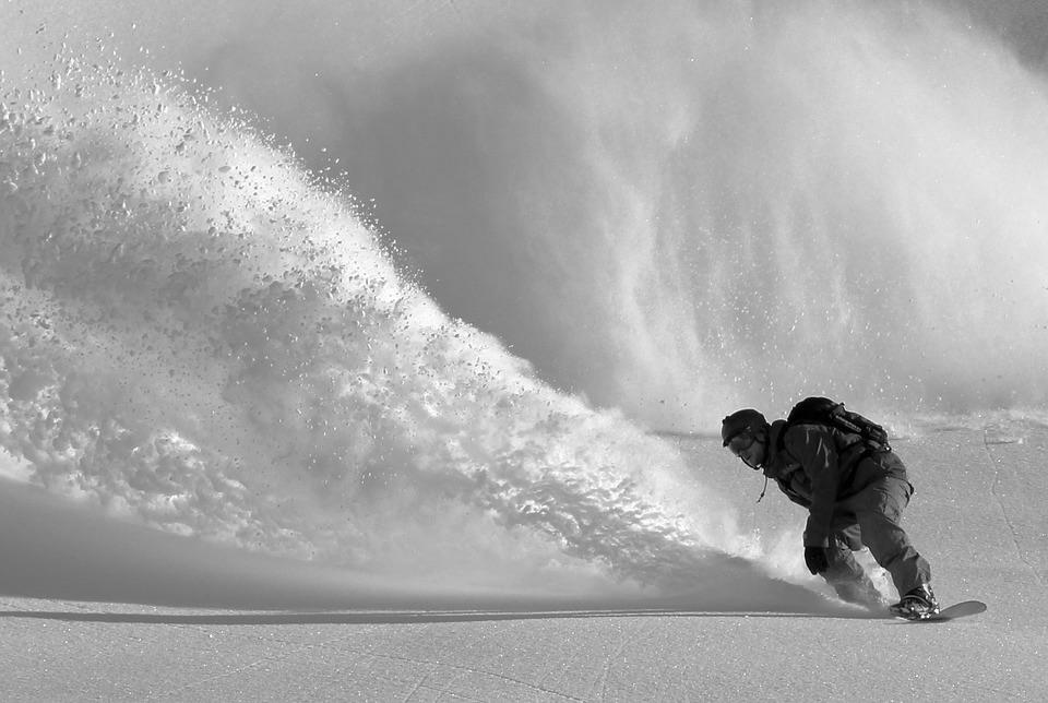 snowboar_bw
